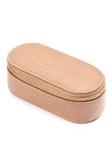 ASPINAL Textured-leather make-up case