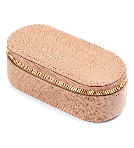 ASPINAL OF LONDON Textured-leather make-up case (Deer