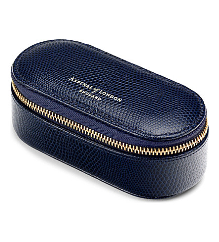 ASPINAL OF LONDON Saffiano leather handbag tidy-all (Navy