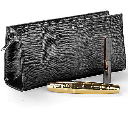 ASPINAL OF LONDON Cosmetic case with travel mirror (Black