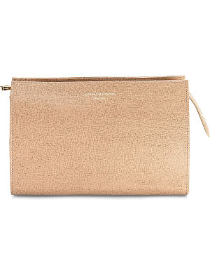 ASPINAL OF LONDON Medium saffiano leather cosmetic case