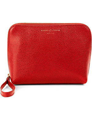 ASPINAL OF LONDON Hepburn leather wash bag