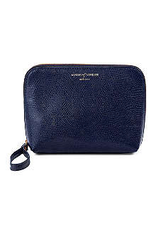 ASPINAL Hepburn leather wash bag