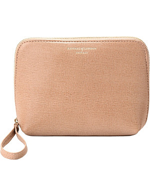ASPINAL OF LONDON Leather Hepburn cosmetic bag