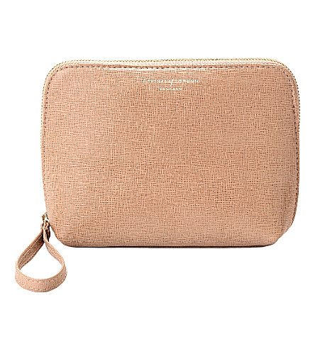 ASPINAL OF LONDON Hepburn Saffiano leather cosmetic case (Deer