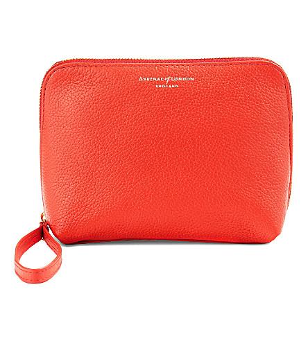ASPINAL OF LONDON Hepburn cosmetic bag poppy pebble (Poppy