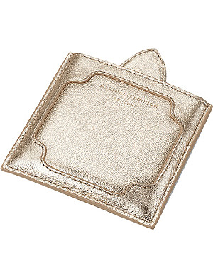 ASPINAL OF LONDON The Marylebone nappa-leather compact mirror
