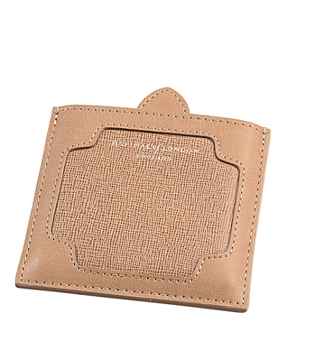 ASPINAL OF LONDON Marylebone leather compact mirror (Deer