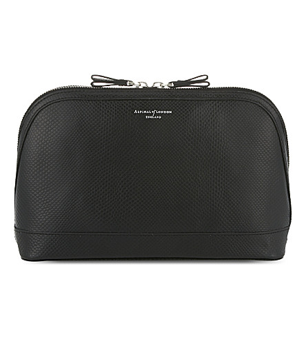 ASPINAL OF LONDON Hepburn leather cosmetic case (Black