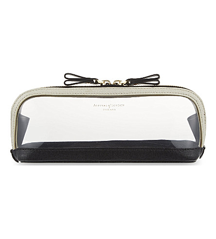 ASPINAL OF LONDON Hepburn medium cosmetic case (Clear