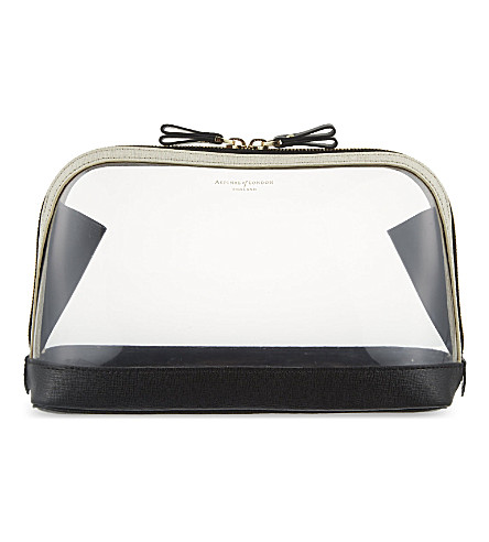 ASPINAL OF LONDON Hepburn large cosmetic case (Clear