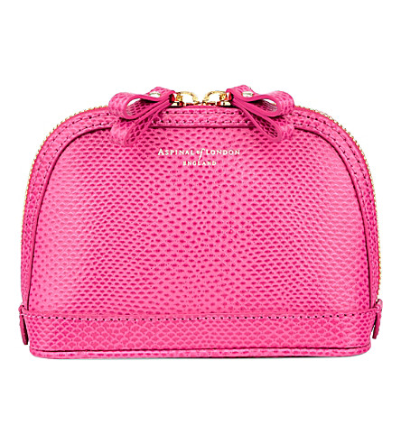 ASPINAL OF LONDON Hepburn small leather cosmetics case (Pink