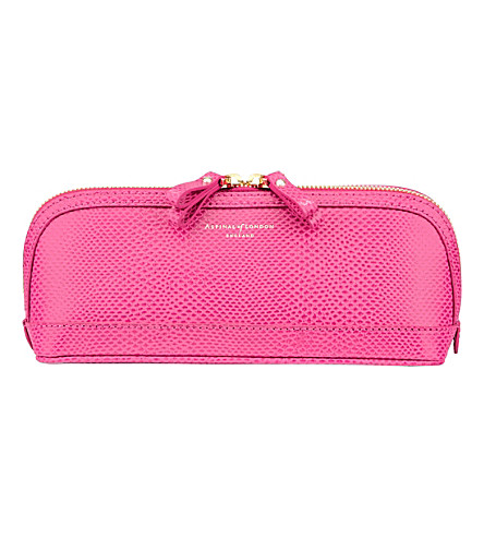 ASPINAL OF LONDON Hepburn medium leather cosmetics case (Pink