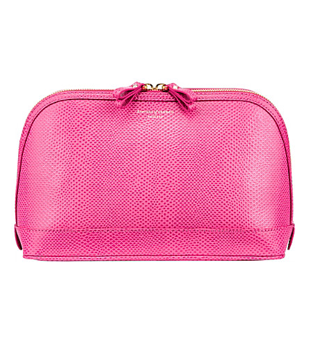 ASPINAL OF LONDON Hepburn large leather cosmetics case (Pink