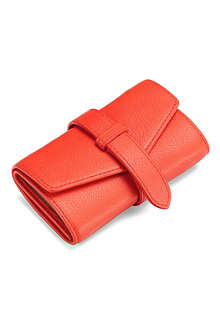 ASPINAL Leather jewellery roll