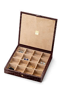 ASPINAL OF LONDON 16-piece cufflink box