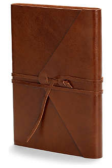 ASPINAL Envelope wrap large leather journal