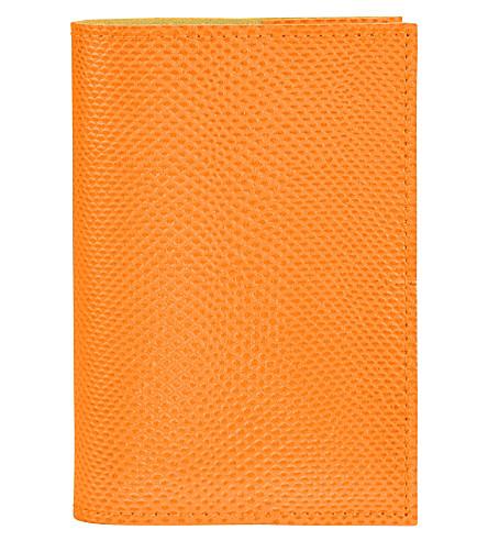 ASPINAL OF LONDON 蜥蜴效应 A7 再填充皮革学报 (橙色
