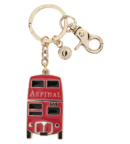 ASPINAL OF LONDON London Bus key ring