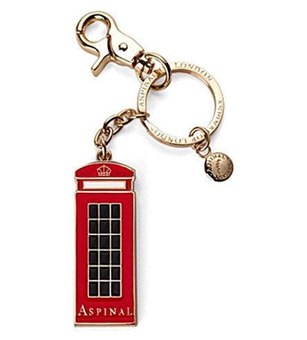 ASPINAL OF LONDON London Phone Box key ring