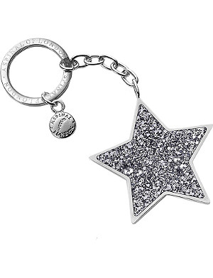 ASPINAL OF LONDON Star-shaped glitter keyring