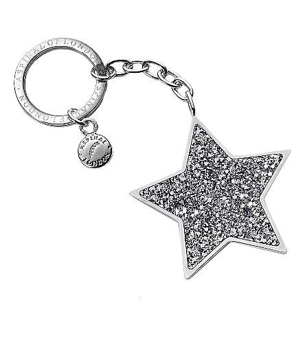 ASPINAL OF LONDON Star key ring silver glitter (Silver