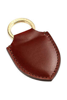 ASPINAL OF LONDON Leather shield key ring