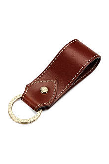 ASPINAL OF LONDON Leather loop key ring