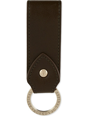 ASPINAL OF LONDON Leather loop keyring