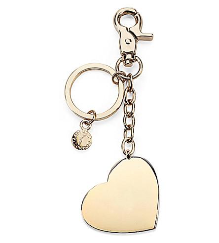 ASPINAL OF LONDON Gold-plated heart keyring (Gold