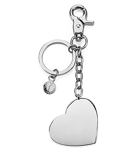 ASPINAL OF LONDON Silver-plated heart keyring (Silver
