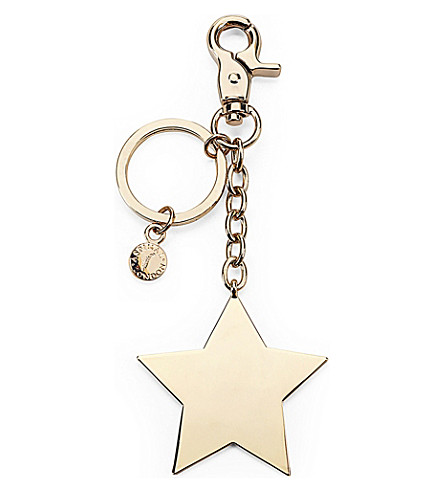 ASPINAL OF LONDON Gold-plated star keyring (Gold