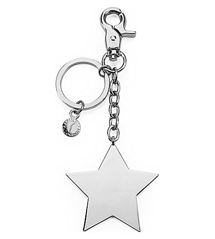 ASPINAL OF LONDON Silver-plated star keyring (Silver