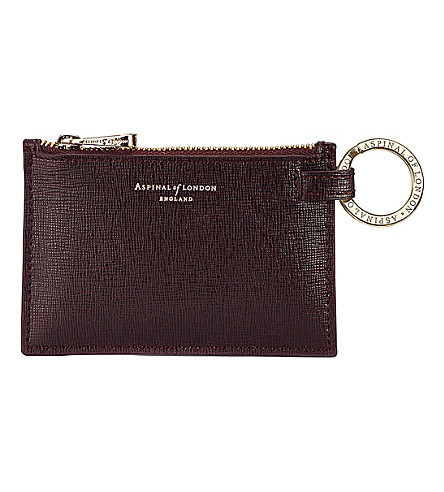 ASPINAL OF LONDON Small leather pouch (Brown
