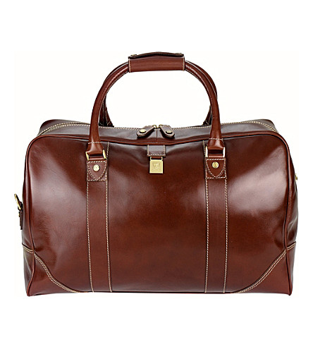 ASPINAL OF LONDON Weekender travel bag smooth cognac (Cognac