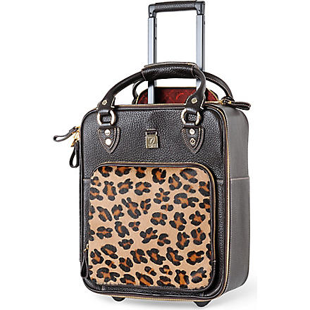 ASPINAL Candy cabin suitcase 41cm (Brown+and+leopard