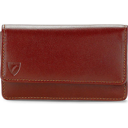 ASPINAL OF LONDON Business and credit card case (Cognac&espresso