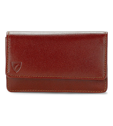 ASPINAL OF LONDON Business and credit card case (Cognac