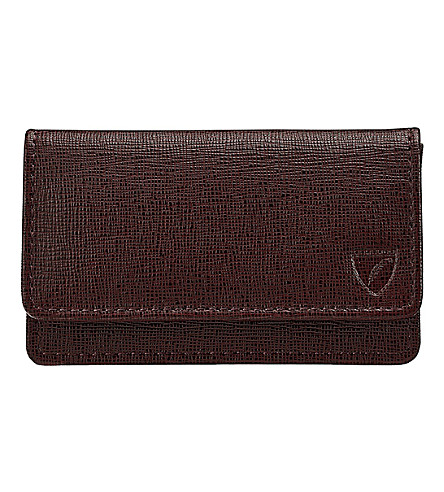 ASPINAL OF LONDON Business and credit card case (Brown