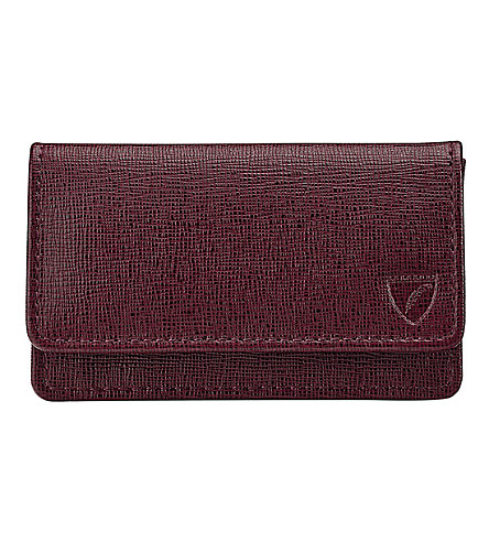 ASPINAL OF LONDON Business and credit card case (Burgundy