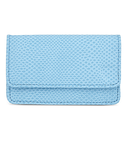 ASPINAL OF LONDON Business and credit card case (Blue