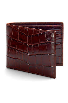 ASPINAL OF LONDON Mock-croc leather billfold wallet