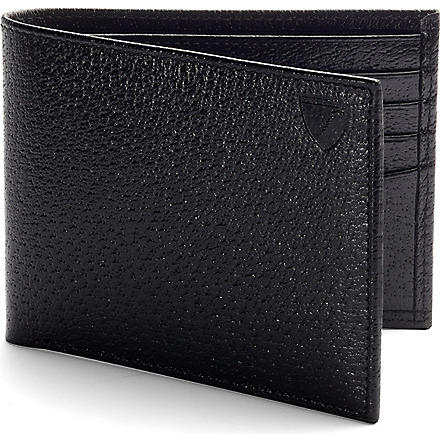 ASPINAL OF LONDON Billfold leather wallet (Black & red
