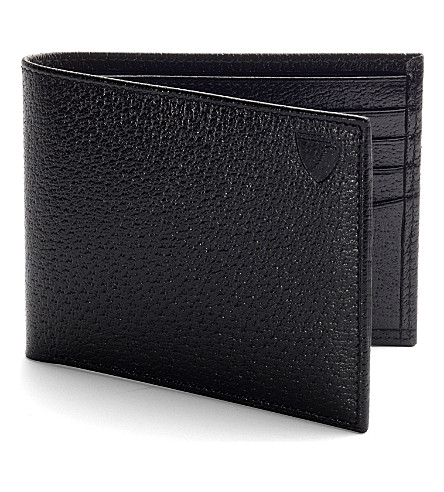 ASPINAL OF LONDON Billfold wallet in black jewel & red (Black & red