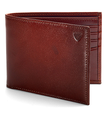 ASPINAL OF LONDON Billfold leather wallet (Cognac
