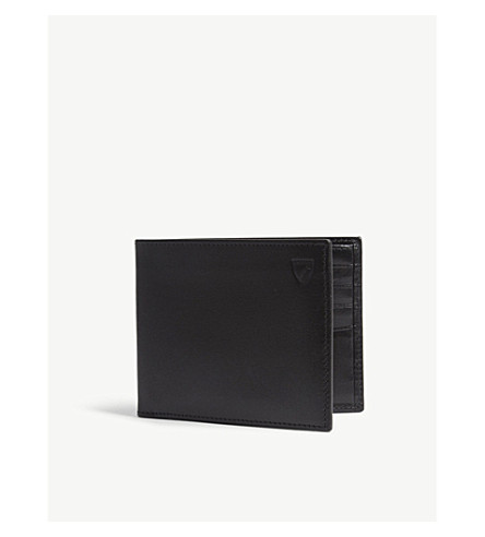 ASPINAL OF LONDON Billfold leather wallet (Black