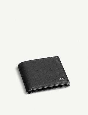 ASPINAL OF LONDON Saffiano leather billfold wallet