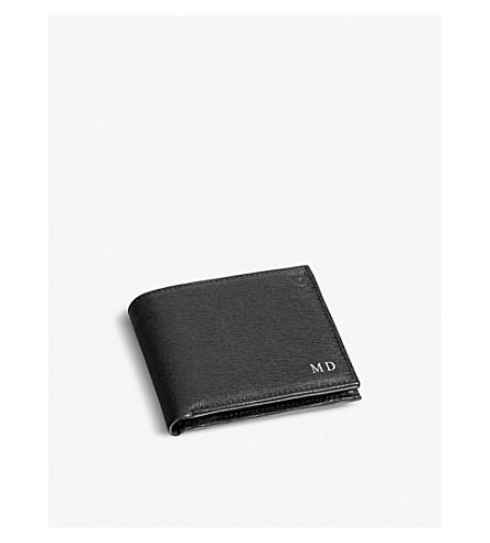 ASPINAL OF LONDON Billfold leather wallet (Black