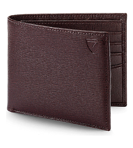 ASPINAL OF LONDON Billfold leather wallet (Brown