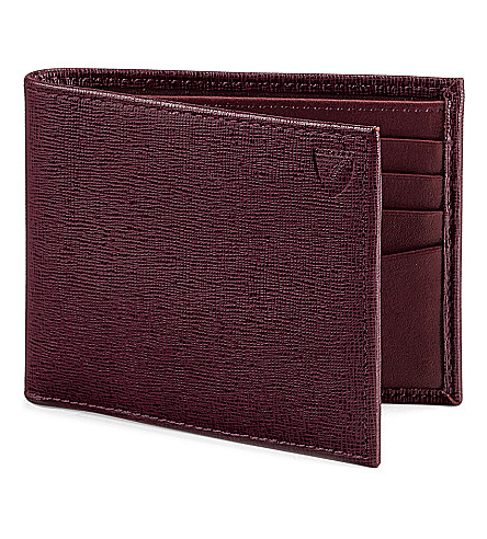 ASPINAL OF LONDON Billfold leather wallet (Burgundy
